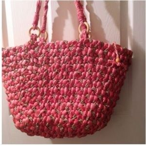 Coldwater Creek Extra Large Woven Straw Tote